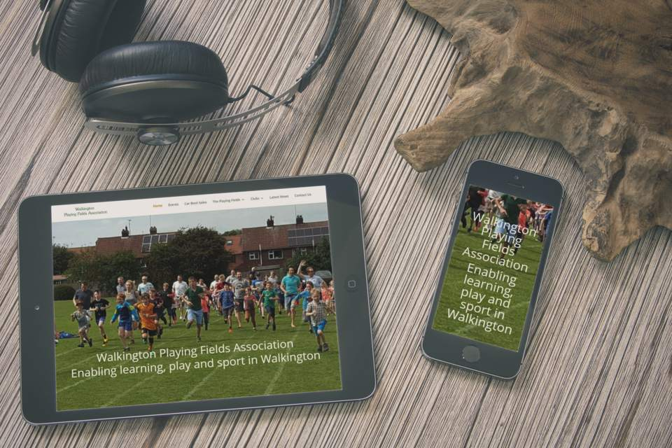 Playing Fields Charity Web Design