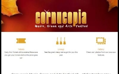 New website launch: Cornucopia Festival