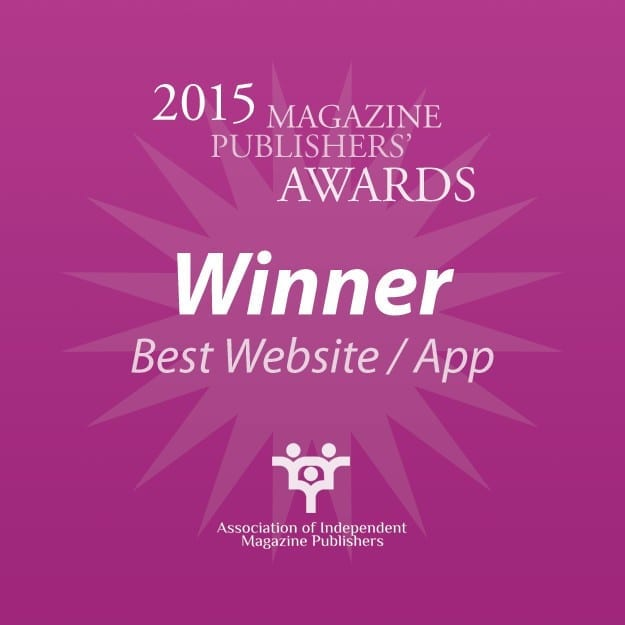 Delighted to have won Best Website at the Independent Publishers Awards