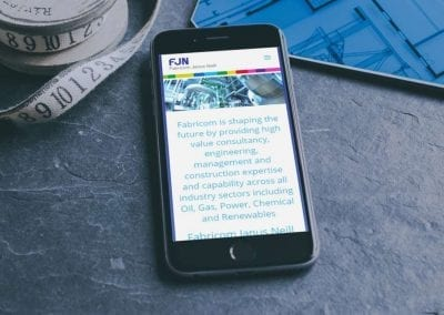 Engineering, procurement and construction company website design