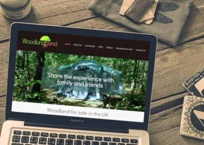 Woodland Sales website design