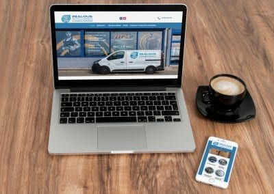 Industrial Cleaning Company Website and Graphic Design